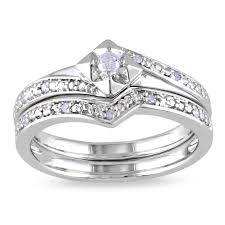 overstock wedding ring sets sterling silverdiamond bridal sets wedding ring sets overstock