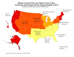 Average House Square Footage by Where Are Sale And Contract Prices Per Square Foot Highest Eye