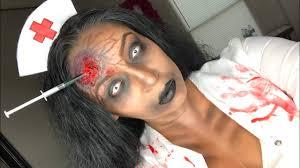zombie nurse halloween makeup tutorial youtube