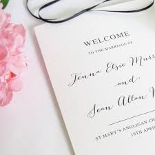 Wedding Program Card Stock Wedding Order Of Service Booklets Peach Perfect