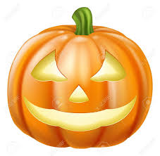 Drawing Of Halloween A Drawing Of An Orange Carved Halloween Pumpkin Lantern Royalty