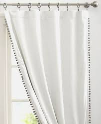 White Cotton Curtains Curtains Pom Curtain Panels Inspiration Pom White Drapery Panels