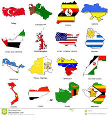 World Flag World Flag Map Sketches Collection 13 Stock Illustration Image