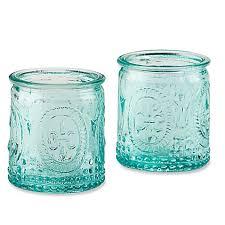 vintage tea light holders kate aspen vintage blue glass tealight holder set of 4 bed bath