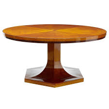 1920s large art deco birch round dining table from a unique