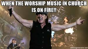 Acdc Meme - article mega church uses acdc in worship to promote financial