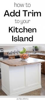 kitchen cabinet trim ideas add molding to a builder grade kitchen island an easy how