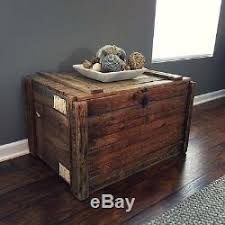 shipping crate coffee table antique german wood storage shipping crate coffee table industeial