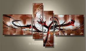 4 four canvas gallery oil painting shop selling hand craft