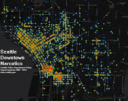 Heat Maps Seattle Downtown Weapons And Narcotics Heat Maps