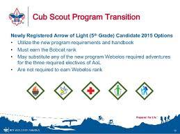 webelos arrow of light requirements 2017 cub scout program changes 2015