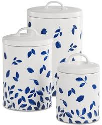 martha stewart kitchen canisters martha stewart collection 6 pc stockholm lidded canisters set