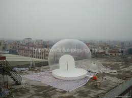 half transparent inflatable lawn camping dome tent bubble tent for
