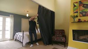 How To Make A Curtain Room Divider - ceiling track room divider kit how to video divideandconquer