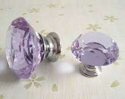 purple glass door knobs glass knobs etsy