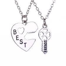 Engraved Necklaces For Couples Aliexpress Com Buy Sale Best Friends Necklaces Long Chain