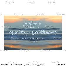 Wedding Congratulations Banner Beach Sunset Sands Surf Wedding Congratulations Banner