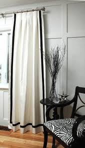 Whote Curtains Inspiration Appealing White And Black Curtains And White Curtains Black Trim