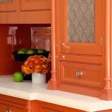 orange kitchen cabinets wire grille kitchen cabinets design ideas