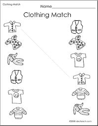 winter clothes worksheets for kindergarten kids activities