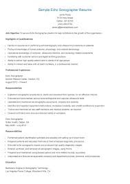 Biology Resume Examples by Sonographer Resume Resume Example