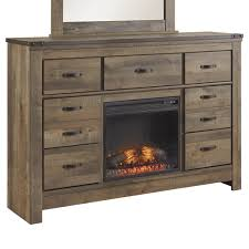 signature design by ashley trinell rustic look dresser with