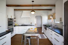 black and white kitchen backsplash black and white kitchen with mosaic tile backsplash modern kitchen