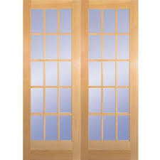 Home Depot French Doors Interior by 15 Lite French Doors Interior U0026 Closet Doors The Home Depot
