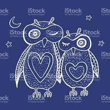 Two Cute Decorative Owls Stock Vector Art 507491385 Istock