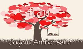 41 ans de mariage carte anniversaire mariage 41 ans arbre coeur