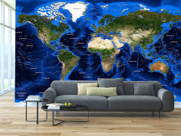detailed world topography bathymetry satellite image map wall mural detailed world topography bathymetry satellite image wall map mural in room