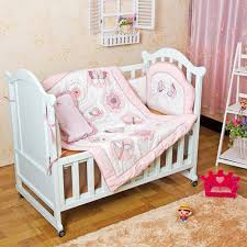 Dragonfly Crib Bedding Set 4 Pcs Baby Bedding Set 3d Pink Butterfly Dragonfly Flowers