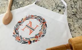 personalized aprons embroidered printed qualtry