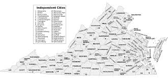 virginia county map with cities list of cities in virginia wikiwand