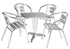 Aluminium Bistro Table And Chairs Bistro Set Garden Furniture Ebay