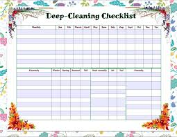 free printable cleaning checklists weekly and deep cleaning available