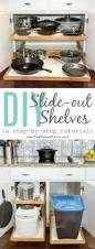 Pull Out Kitchen Shelves by Organize Your Pantry With Diy Slide Out Cabinet Shelves Drawers