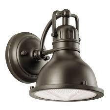 kichler outdoor wall lighting kichler 49064oz one light outdoor wall mount wall porch lights