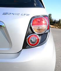 2015 chevy sonic tail light 2012 chevrolet sonic ltz 2lz review test drive