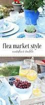 flea market style outdoor table setting flea market style