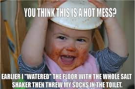 Hot Mess Meme - dirty little spots stay at home mum