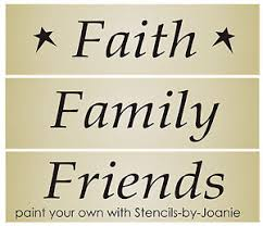 Country Star Home Decor Primitive 3 Pc Stencil Faith Family Friends Star Country Home