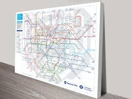 Tube Map London London Underground Tube Map Canvas Wall Art