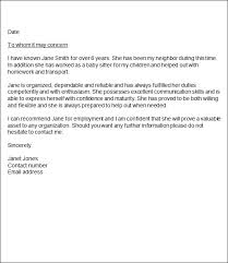 employment character reference letter letters font
