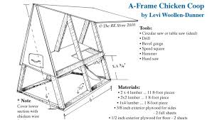A Frame Plans A Frame Diy Chicken Coop Design The Re Store