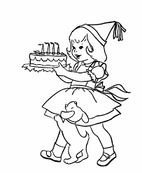 coloring pages birthday party kids coloring