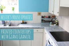 painted kitchen counters with giani granite hester u0027s house