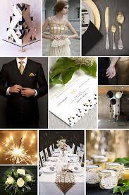 black and gold wedding ideas wedding inspiration black and gold weddings ideas from evermine