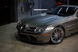 mercedes mclaren 2006 mercedes slr mclaren poses on polished aluminum wheels