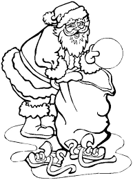 christmas coloring pages printable santa with big presents